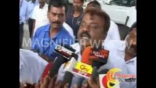 vijayakanth angry on press people