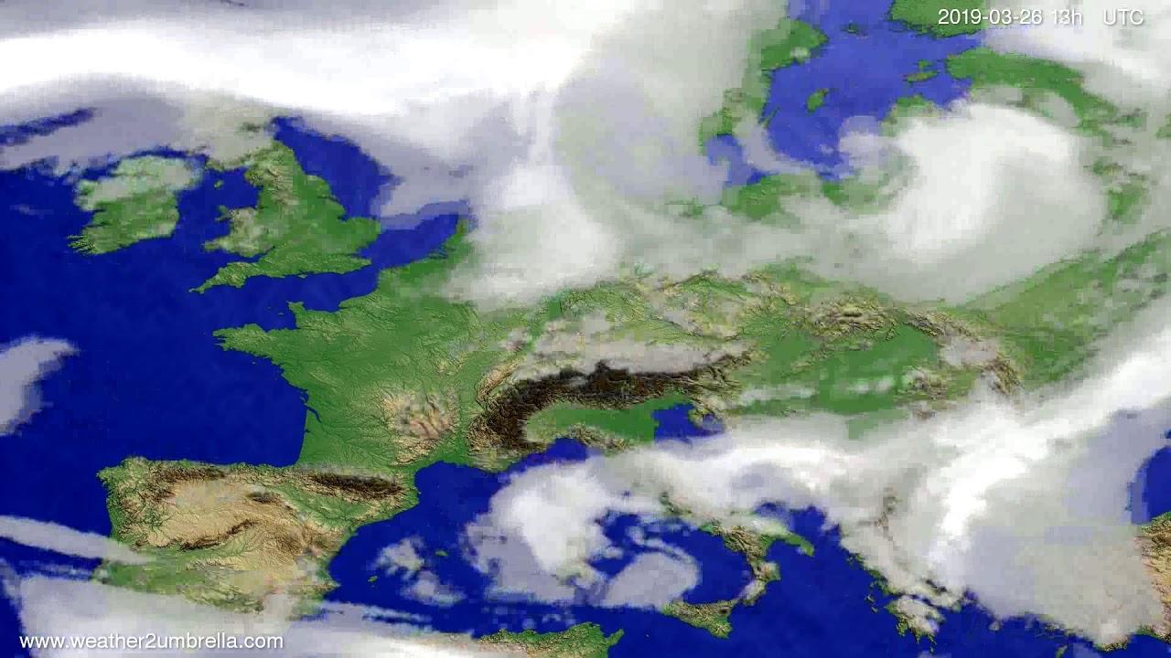 Cloud forecast Europe 2019-03-26
