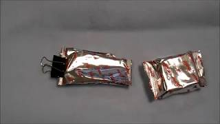 Testing of a plastic food packaging bag