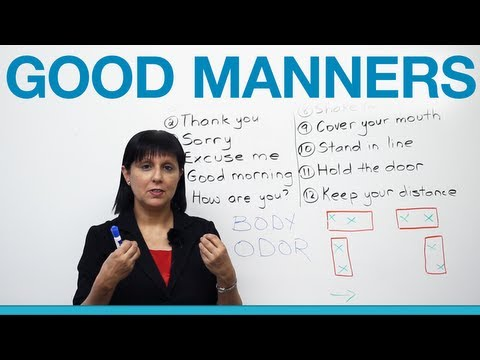manners - http://www.engvid.com/ Learning English? Then you must learn about English culture and etiquette too. I'll tell you the one secret you MUST know to be accept...