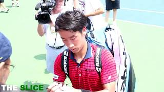 Yuchi Sugita beating Karen Khachanov to advance to the quarterfinals of The Western and Southern Open.