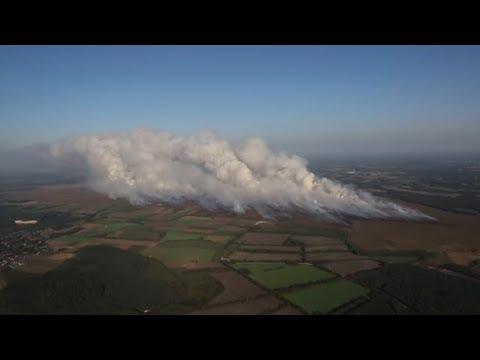 Moorbrand: Rauch vernebelt Teile von Niedersachsen