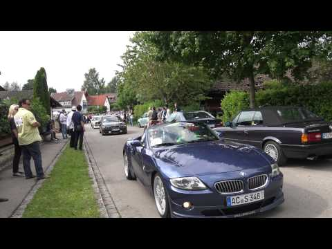 [4k] All ALPINA ever made cortege for 50 Yearc Celebration in Buchloe, Germany видео