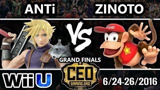 CEO 2016 Smash 4 – dT | ANTi (Mario, Diddy, Cloud) Vs. Zinoto (Diddy Kong) – SSB4 GF – Smash Wii U