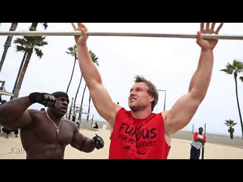 muscle - Kali Muscle instructing Furious Pete and Big J on how to achieve a muscle up. Edited by Arash of http://www.youtube.com/strengthproject Furious Pete:http://y...