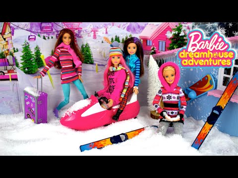 Barbie Doll Winter Road Trip Routine - DreamHouse Adventures Episode