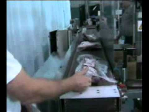 Ergopack with Weigh Scale Frozen Meat Hand Packing Station