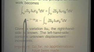 Lec 4 | MIT Finite Element Procedures For Solids And Structures, Nonlinear Analysis