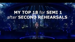 Video Eurovision 2017 | My Top 18 for Semi Final 1 After Second Rehearsals MP3, 3GP, MP4, WEBM, AVI, FLV Oktober 2017