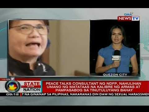 Peace talks consultant ng NDFP, nahulihan umano ng matataas na kalibre ng armas at pampasabog