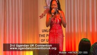 Celebrated Gospel Singer Judith Babirye Singing Enno Mbaga At The 2nd Ugandan Convention UK