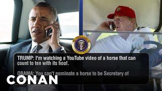 Video Trump Talks To Obama, Dad To Dad  - CONAN on TBS MP3, 3GP, MP4, WEBM, AVI, FLV April 2018