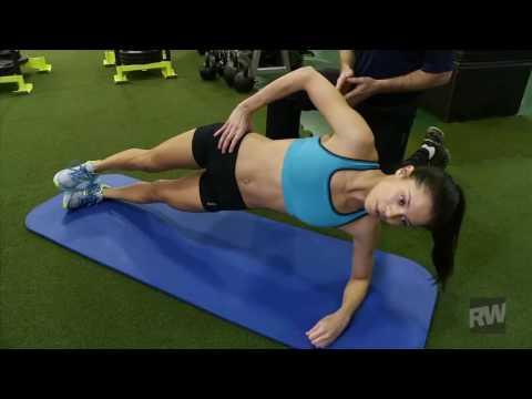 Weekly Workout – Side Plank with Hip Flexion