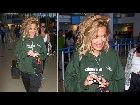 Rita Ora Plays With A Fidget Spinner As She Arrives In Los Angeles