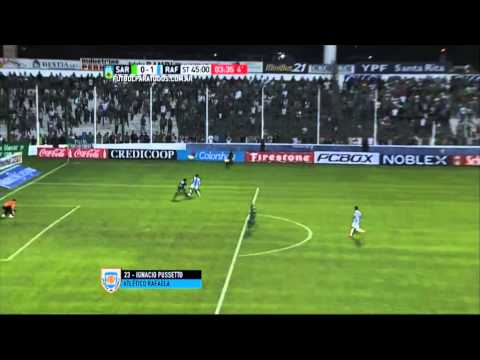 Gol de Pussetto. Sarmiento 0 – Rafaela 1. Fecha 22. Primera 2015