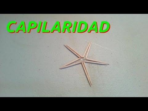 capilaridad. - Experimento sencillo para demostrar la capilaridad. Unicamente se necesitan palillos de dientes y agua, y el resultado es muy llamativo, simple y fácil de ha...