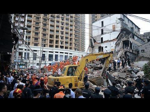 Κίνα: Νεκροί και τραυματίες από κατάρρευση τεσσάρων πολυκατοικιών