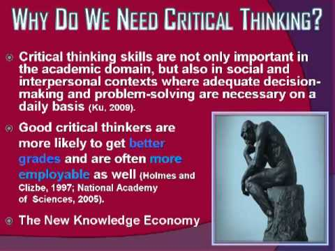 Critical Thinking in the 21st Century: The New Knowledge Economy & E-Learning