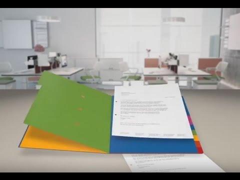 Falken Ordnungsmappe 1-12 farbig Colorspan