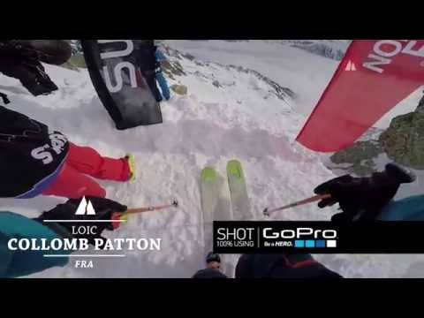 Loic Collomb Patton op zijn winning run in Chamonix.