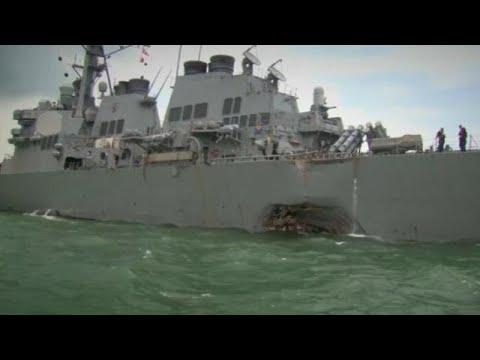 10 αγνοούμενοι αμερικανοί ναύτες μετά από σύγκρουση πλοίων
