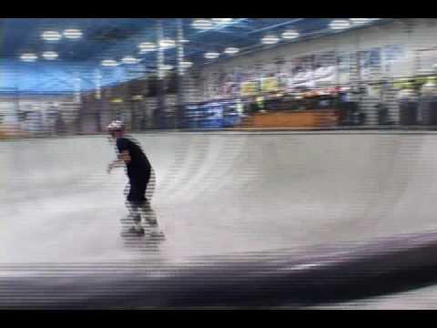 Josh Hall skateboarding in Grand Rapids