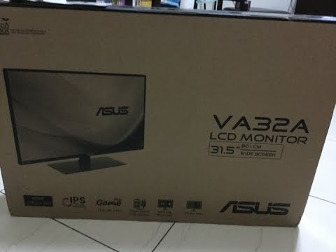 Asus VA32AQ unboxing, review looking for defects