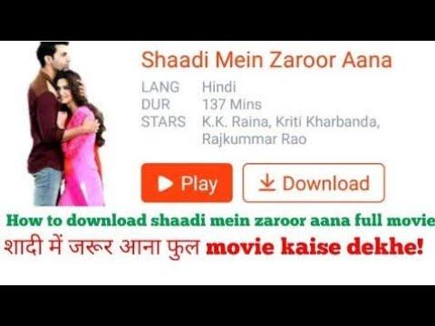 Shaadi Mein Zaroor Aana hindi movie in 720p golkes