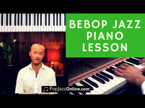 How To Play BeBop 🎹😃 │Jazz Piano Lesson │ Jazz Licks (Donna Lee)