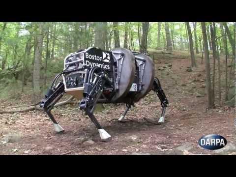 美步兵支援機器人測試,用於為部隊攜帶重型負載!