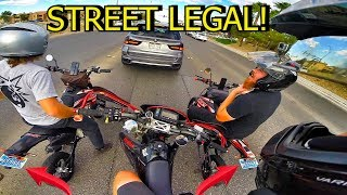 7. 2 STREET LEGAL SSR PIT BIKES!!