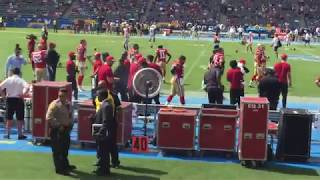 San Francisco 49ers Take The Field vs. Los Angeles Chargers 9/30/18