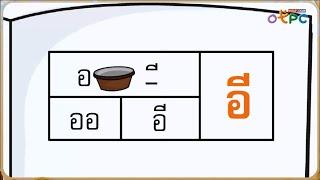 สื่อการเรียนการสอน การอ่านแจกลูกการสะกดคำ สระอี ป.1 ภาษาไทย