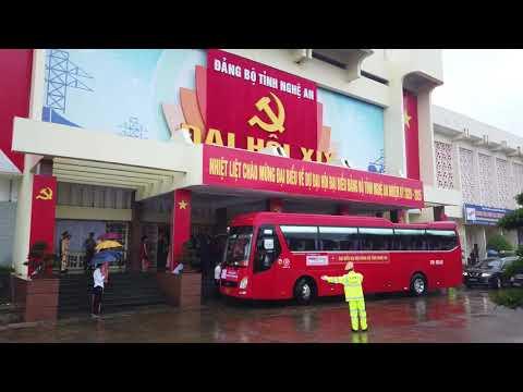 Đội xe Du lịch PhucGroup phục vụ Đại hội Đảng bộ tỉnh Nghệ An,nhiệm kỳ 2020-2025