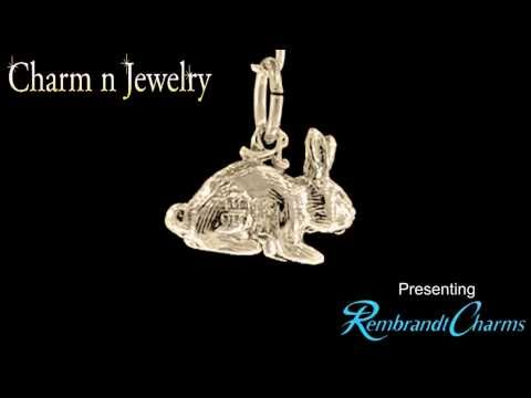 Bunny Rabbit Gold Charm Style 2264