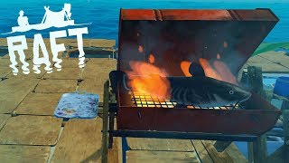 The NEW Raft - ALL RESEARCH COMPLETED, ADVANCED GRILL & SCUBA GEAR - Part 5 - Raft Gameplay Update