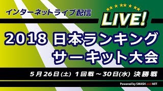 Video 2018年日本ランキングサーキット大会【Ch.A】2回戦、17位決定戦(1回戦敗者) MP3, 3GP, MP4, WEBM, AVI, FLV Mei 2018