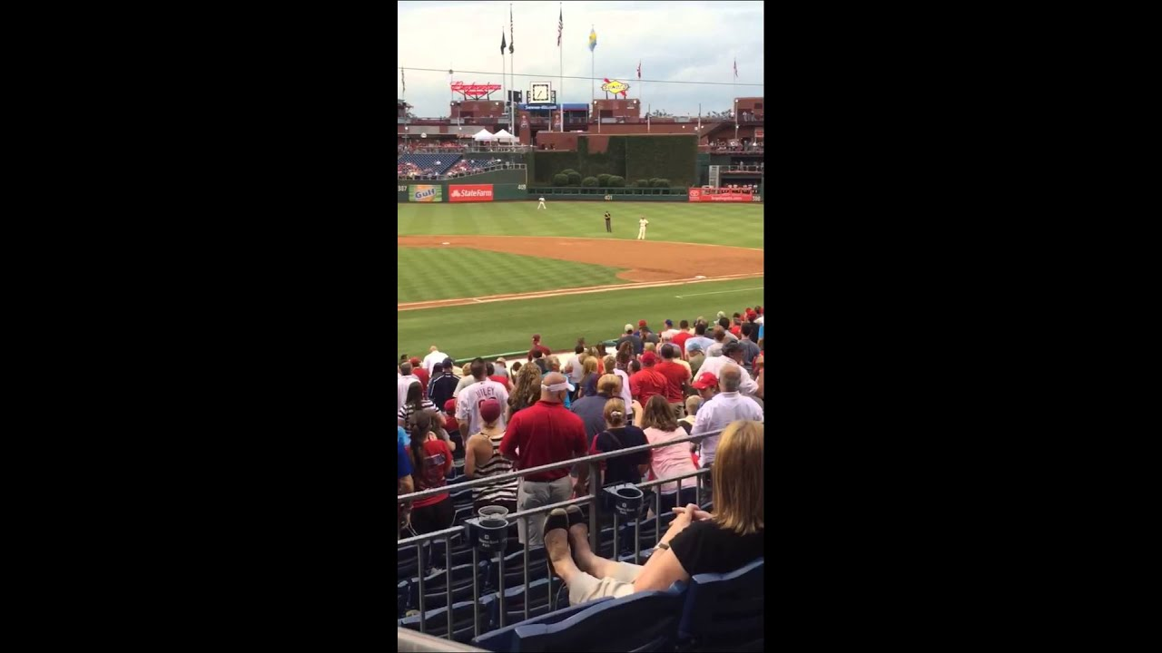 Squirrel at Phillies Game