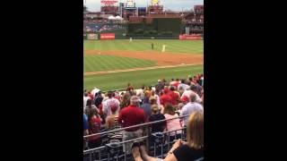 Squirrel Dives Into Dugout At Phillies Game