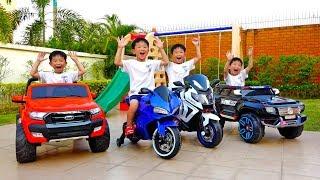 Video [1시간] 예준이와 아빠의 전동 자동차 장난감 어린이 놀이터 색깔놀이 연속보기 Video for Kids Power Wheel Car MP3, 3GP, MP4, WEBM, AVI, FLV Februari 2019