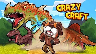 Forgotten WORLD of Dinosaurs in Crazy Craft! (Minecraft)