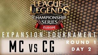 Expansion Tournament - R1D2 - MC vs CG