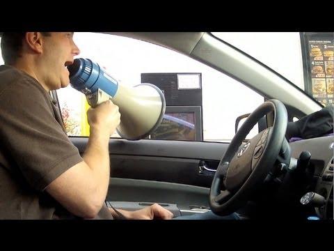 McDonalds Drive-Thru Megaphone Prank