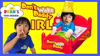 DON'T WAKE DADDY IRL CHALLENGE Family Fun Games for Kids Egg Surprise Warheads Extreme Sour Candy