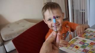 Мини занятие с аутистом: речь, чтение, обводилки, Максимке 5 лет