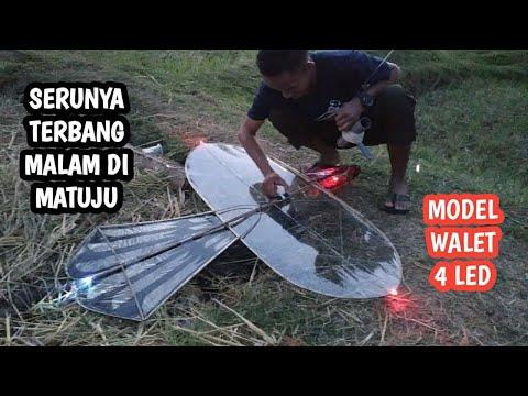Serunya Penerbangan Malam Layangan pitu-pitu Bugis Desa Matuju