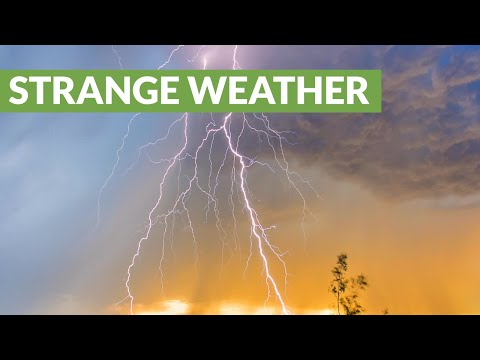 لقطة مدهشة لعاصفة ممطرة في لاس فيغاس