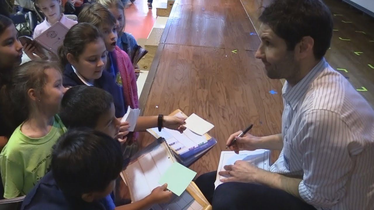 Author Matt de la Pena Visits Beaufort County Schools