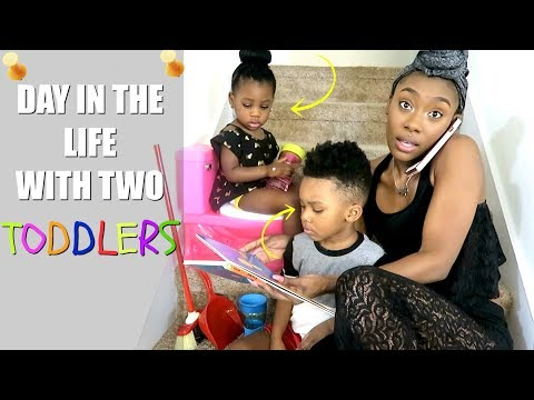 DAY IN THE LIFE | TWO TODDLERS | HOMESCHOOLING EARLY