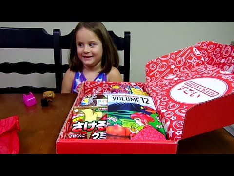 Japan Crate Premium Candy Box Unboxing-Chloe's Toy Time (видео)